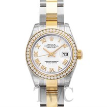 Rolex Lady Datejust White Steel/18k gold Dia 26mm - 179383