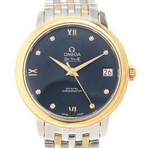 Omega De Ville 18k Gold Steel Blue Automatic 424.20.33.20.53.002
