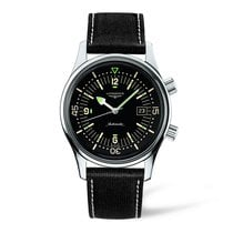 Longines Heritage Automatic Black Dial 42mm Mens Watch Ref...