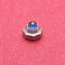 Cartier Krone achteckig Stahl poliert mit eingefasstem Spinell...