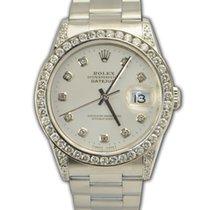 Rolex 16200 Datejust Silver factory diamond Dial