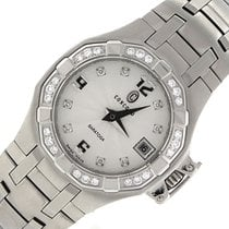 Concord Saratoga Stainless Steel Diamond 14.36.1840 Date Watch