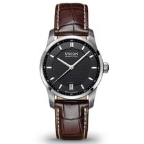 Union Glashütte Seris Datum Herrenuhr Medium schwarz neu