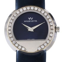 Wyler Vetta Women's Stainless Steel & Diamond Quartz...