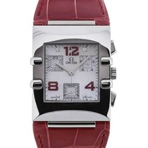 Omega Constellation Quadra 34 Quartz Red Leather