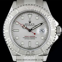 Rolex Stainless Steel O/P Platinum Dial Yacht-Master Gents 16622