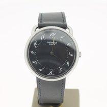 Hermès Round Steel Black Dial Arceau 2011  33mm