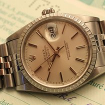 Rolex datejust 36 mm argentee like mint , box papers