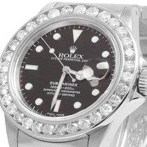 Rolex Mens Rolex Submariner 40MM 16610 Stainless Steel Black...