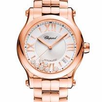 Chopard Happy Sport Diamonds, 18K Rose Gold Ladies Watch