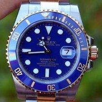Rolex Mens 116613 Ceramic Steel Gold Blue Submariner New 2015...