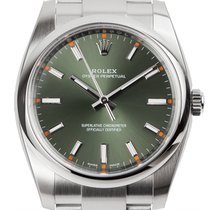 Rolex Oyster Perpetual 34 Steel Olive Green Dial Oyster 114200