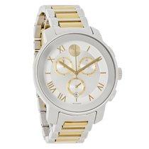 Movado Bold Unisex Two Tone Swiss Chronograph Quartz Watch...