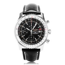 Breitling Navitimer World Black Mens GMT Chronograph A2432212/...