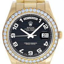 Rolex Day-Date II 41mm Diamond & 18k Yellow Gold Men's...