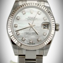 Rolex 178274 DateJust Mother of Pearl 31mm Diamond Dial Oyster