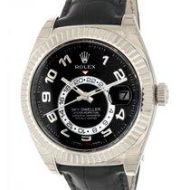 Rolex Sky Dweller 326139 In Oro Bianco E Pelle, 42mm