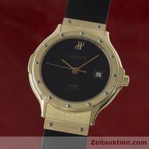 Hublot Mdm 18k (0,750) Gold Damenuhr Datum Black Dial