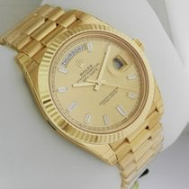Rolex Day-Date 40 President YG 40mm 228238 Champagne Baguette...