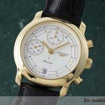 Longines 18k (0,750) Gold Chronograph Handaufzug Herrenuhr