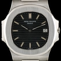 Patek Philippe Stainless Steel Very Rare Black Dial Jumbo...