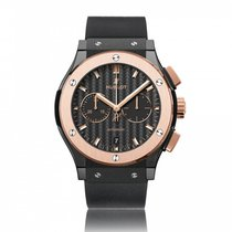 Hublot Classic Fusion Ceramic King Gold Automatic Mens Watch...