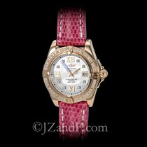 Breitling Starliner 18K Rose Gold 2 Carats Flawless Diamonds Date