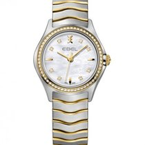 Ebel Wave Lady Steel Gold, Mother of Pearl  Dial Diamonds
