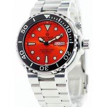 Deep Blue Sun Diver III 1k Diving Watch 1000m Wr Res Orange...