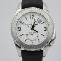 Girard Perregaux Sea Hawk Ii White Dial 4990 On Rubber Strap