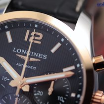 Longines Men's Conquest Classic Chrono  Steel & Rose...