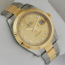 Rolex 126333 DateJust II Gold & Steel 41mm Champagne Dial...