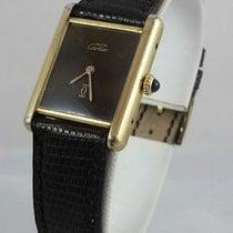 Cartier Must De Sterling Silver Tank 925 Vermeil Gold Vintage...