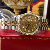Rolex Oyster Perpetual Datejust Gold Steel Diamond Watch