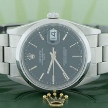 Rolex Oyster Perpetual Date 34mm Black Stick Dial Oyster Watch...