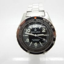 Zeno-Watch Basel ARMY 485 Automatic WR300m Date S. Steel 41mm...
