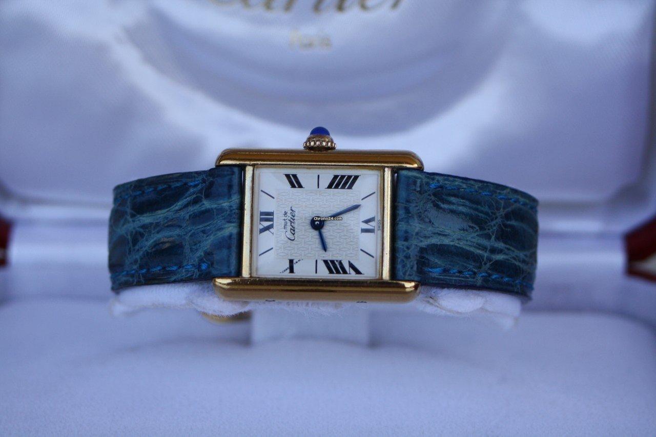 Cartier Tank Vermeil Enamel Dial za 900 € k prodeji od Soukromý prodejce na  Chrono24 6081e0c6fd