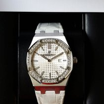 Audemars Piguet 67651ST Royal Oak Lady Silver White Dial...