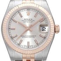 Rolex Datejust 31 Edelstahl Roségold Everose 178271 Silber Jubile