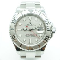 Rolex Yachtmaster 40mm Platinum Bezel & Steel Oyster Band