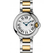 Cartier W2BB0010 Ballon Bleu Ladies 28mm Automatic in 2-Tone -...