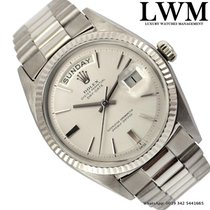 Rolex Day-Date 1803 President silver dial white gold 18KT Full...