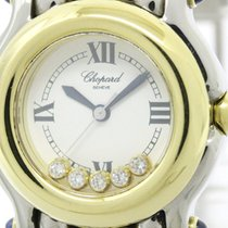 Chopard Polished Chopard Happy Sports Diamond 18k Gold Steel...