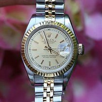 Rolex Ladies 69163 Datejust 26mm 2tone 18k Gold And Steel Nice...