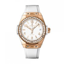 Hublot Big Bang Automatic Rose Gold White Dial Unisex Watch...