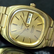 Omega Seamaster Automatic Q/S Day Date Roll Gold Steel Mens Watch