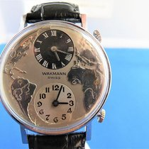 "Wakmann ""breitling"" Dual Time World Mechanical Rare 1960's..."