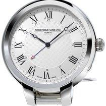 Frederique Constant Silver Dial Travel Alarm Clock