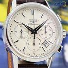 浪琴 (Longines) Column-Wheel Chronograph 40mm Steel on Leather...