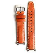 Everest Steel End Link Leather Strap With Tang Buckle For...